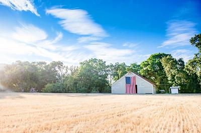 Casey Grandparents Barn-Flag