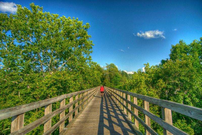 The Virginia Creeper Trail near Watauga Road in Abingdon, VA on Saturday, July 28, 2012. Copyright 2012 Jason Barnette