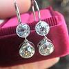 3.07ctw Double Old European Cut Dangle Earrings 15
