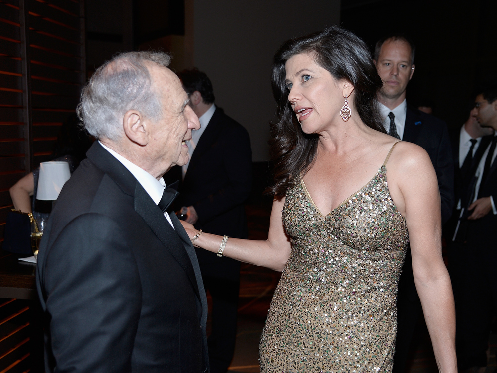 . Honoree Mel Brooks (L) and actress Daphne Zuniga attend the 41st AFI Life Achievement Award Honoring Mel Brooks after party at Dolby Theatre on June 6, 2013 in Hollywood, California. Special Broadcast will air Saturday, June 15 at 9:00 P.M. ET/PT on TNT and Wednesday, July 24 on TCM as part of an All-Night Tribute to Brooks.  (Photo by Frazer Harrison/Getty Images for AFI)