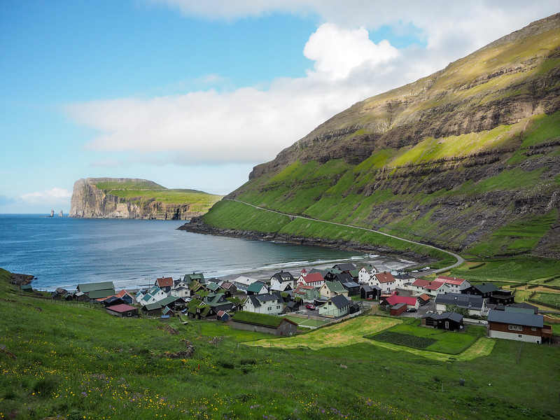 The village of Tjørnuvík in the Faroe Islands
