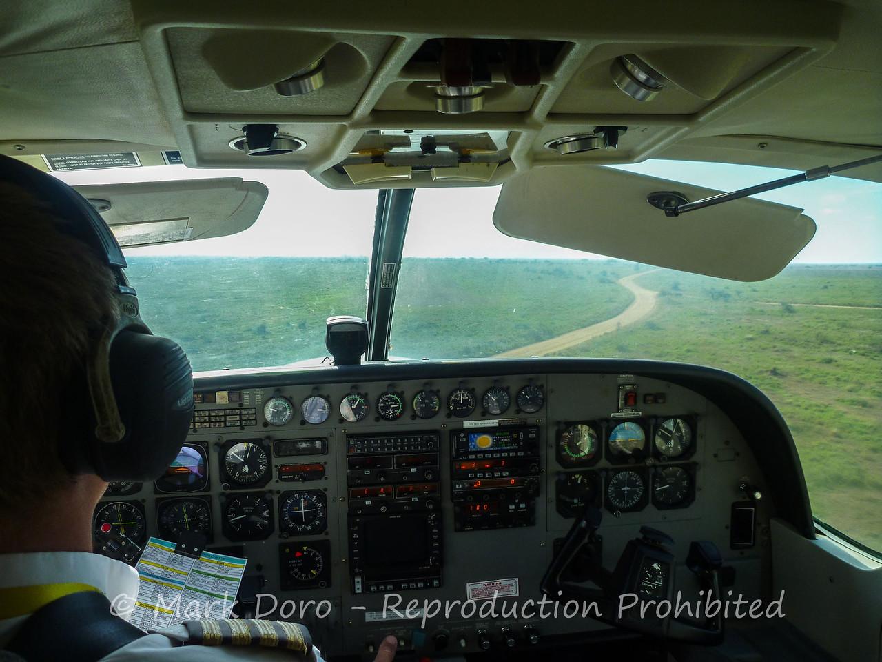 Flying to the Serengeti, Tanzania