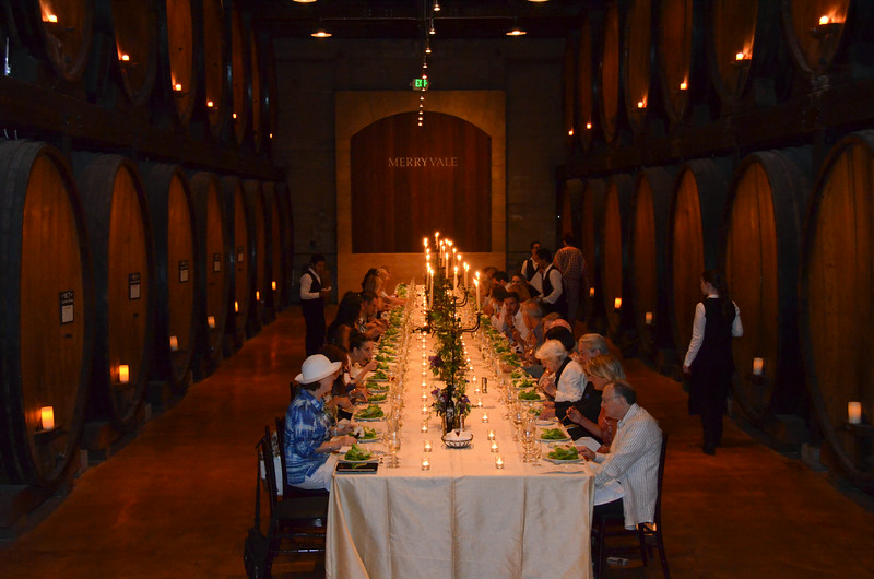 Vintner's Luncheon at Merryvale Vineyards ~ inside the Cask Room