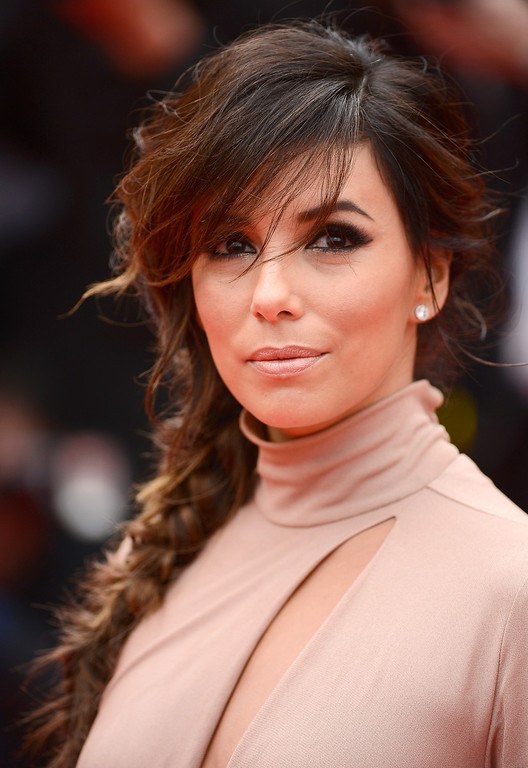 """. Eva Longoria attends the \""""Foxcatcher\"""" premiere during the 67th Annual Cannes Film Festival on May 19, 2014 in Cannes, France.  (Photo by Ian Gavan/Getty Images)"""