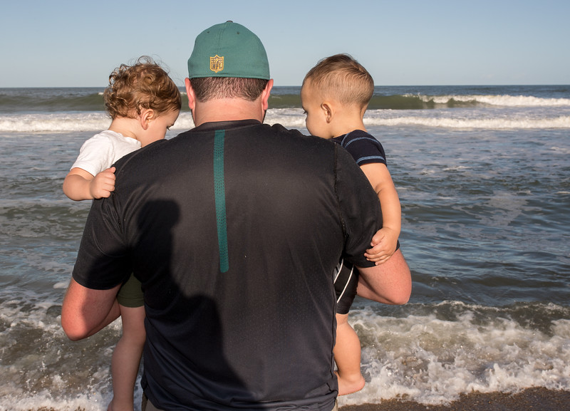 Jesse with Caleb and Brady at the shoreline.jpg