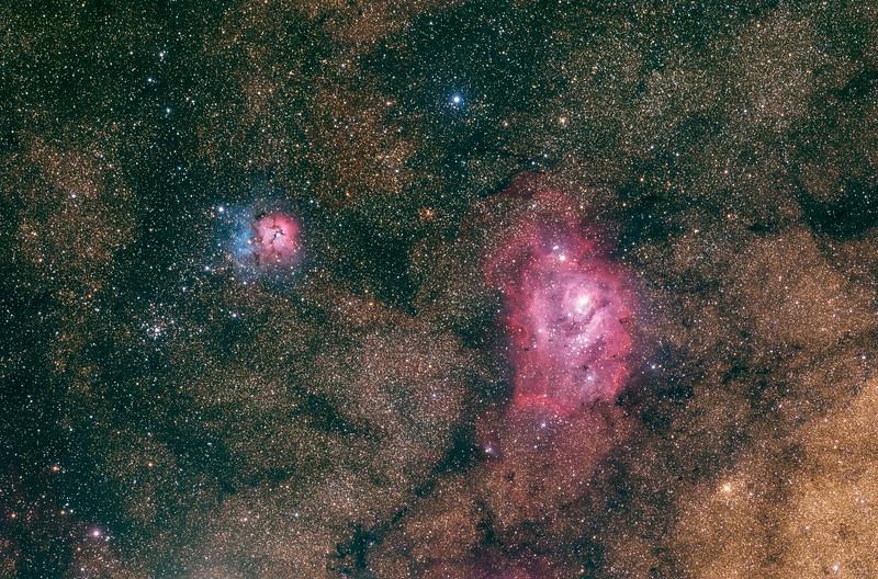 Lagoon and Trifid Nebula M8 M20