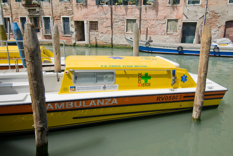 Water ambulance in Venice, Italy