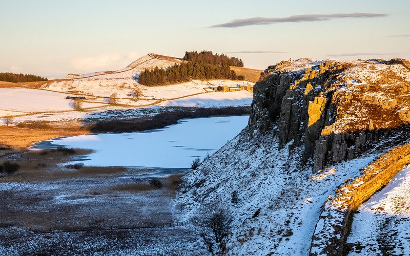 Winter at Crag Lough on Hadrian's Wall