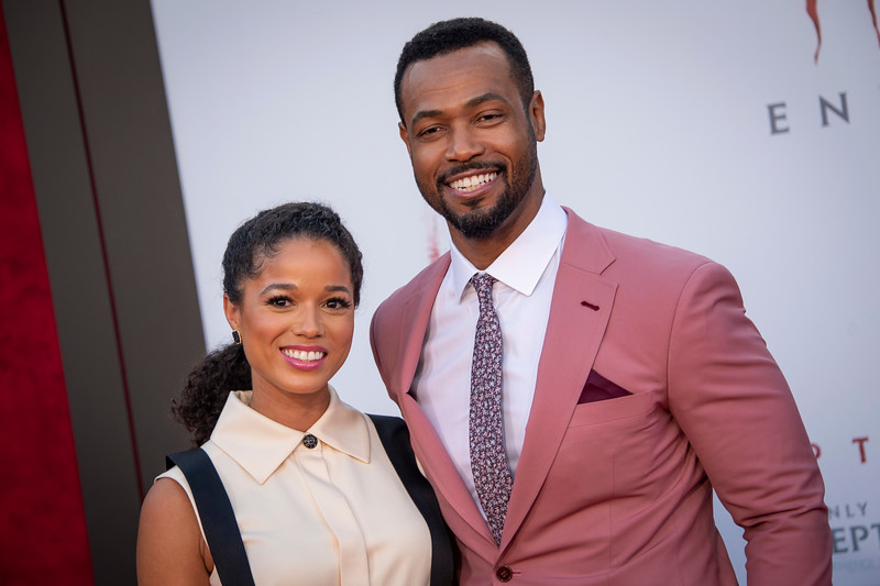 """WESTWOOD, CA - AUGUST 26: Alisha Wainwright and Isaiah Mustafa attend the Premiere Of Warner Bros. Pictures' """"It Chapter Two"""" at Regency Village Theatre on Monday, August 26, 2019 in Westwood, California. (Photo by Tom Sorensen/Moovieboy Pictures)"""
