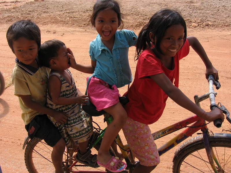 Kids on a bike - some like it, some don't.
