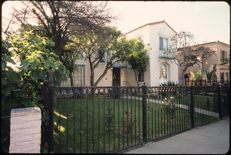 Multiple dwelling units along Hayworth Avenue, Los Angeles, 2005