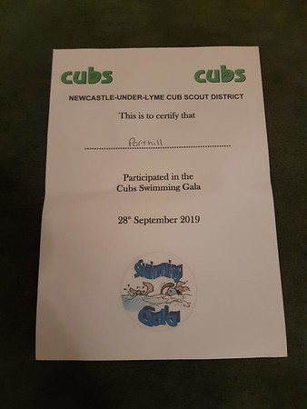 2019-09-28 District Cubs Swimming Gala
