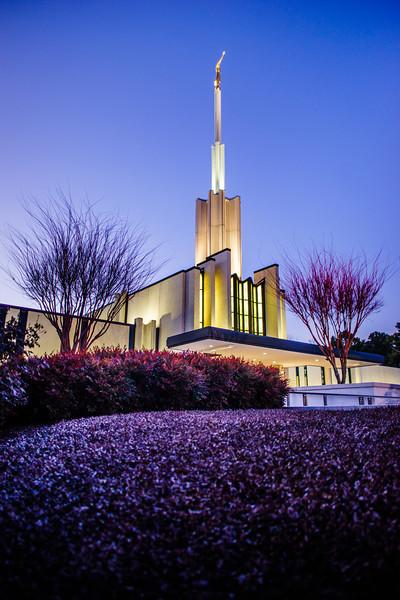Atlanta Temple Blue Twilight