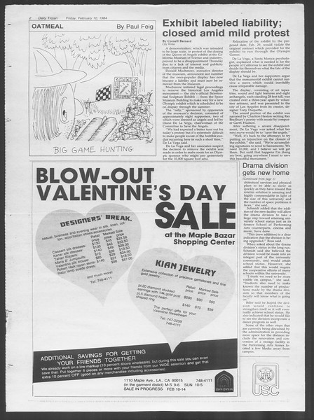Daily Trojan, Vol. 95, No. 24, February 10, 1984