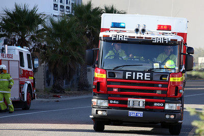 Fremantle Shipping Container Fire 8th April 2012