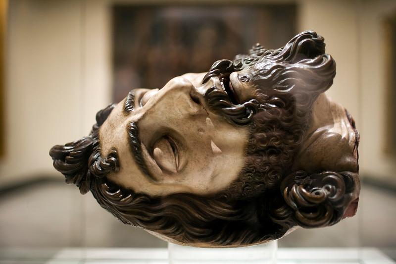 Head of John the Baptist, sculpture by Gaspar Nuñez Delgado (1591), Museum of Fine Arts, Seville, Spain