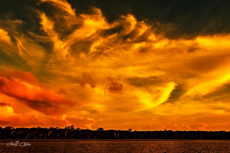 Gold Ocean Sky  -  Art photo.
