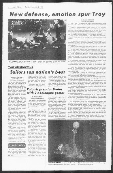 Daily Trojan, Vol. 64, No. 29, November 02, 1971