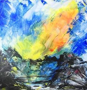 """Energy"" (acrylic) by Oresta Kinash"