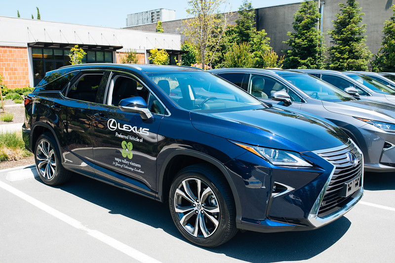 Lexus vehicles at the 2019 Napa Valley Barrel Auction