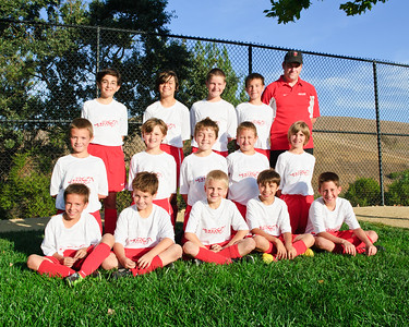20110 Mustang Soccer - Team U12 Revolution - Team Pictures - Coach Kevin Cole