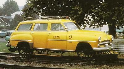 Cars on Train tracks