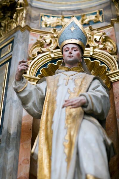 Bishop statue, former Monastery of La Cartuja, Seville, Spain