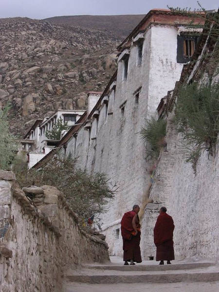 Monks at Sera Monastery