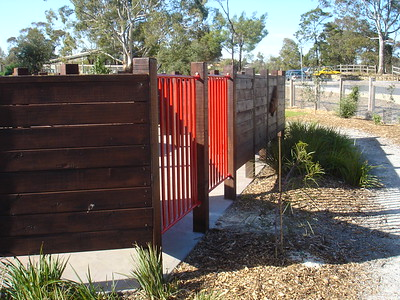 timber maze fencing