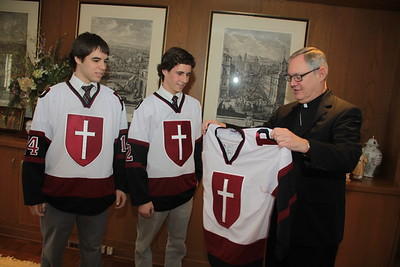 Bishop Tobin presented with Prout Jersey
