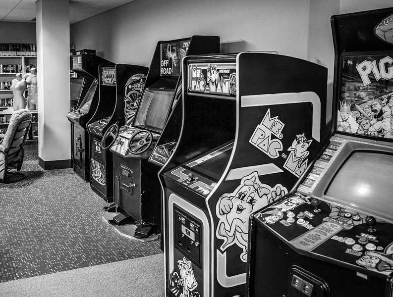 Old arcades at Epic Games HQ, Cary