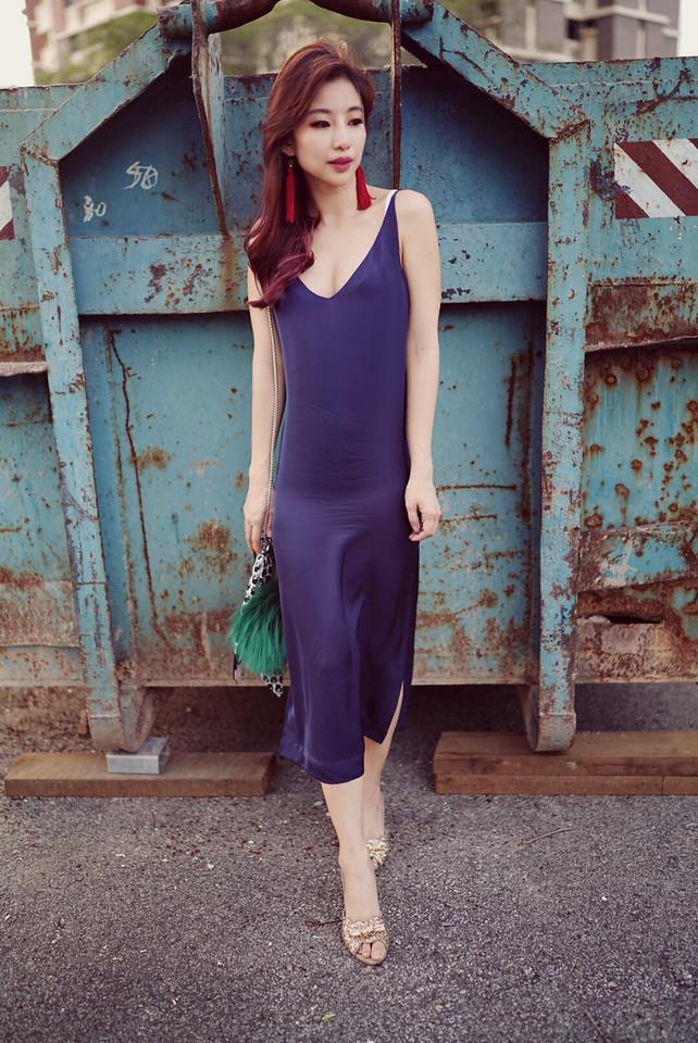 Grana silk dress