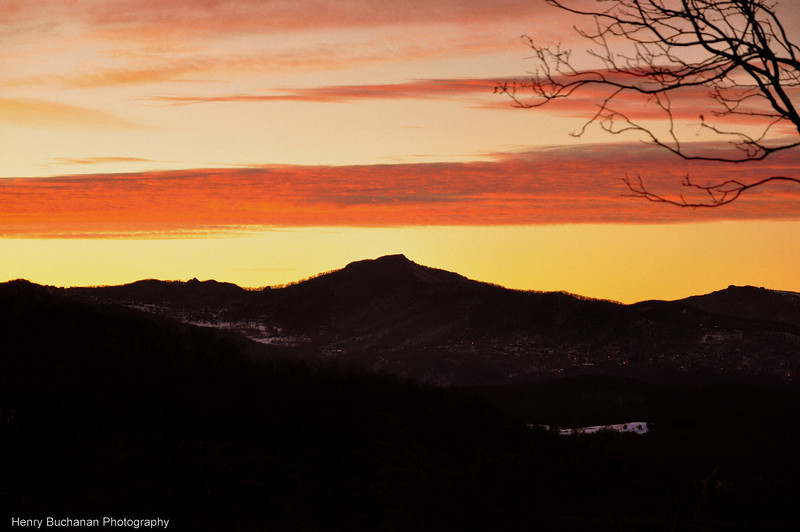 Blowing Rock NC - Sunset 12/26/09