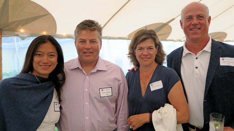 Cathy Jefferson, Brett Jefferson '84, Deb Graham and Dean Graham'84
