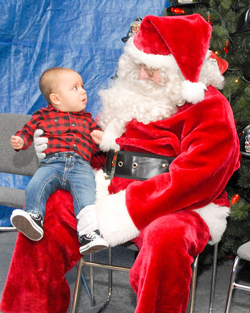 Santa visited Shellsburg on Saturday
