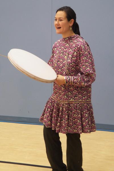 Naaq leading Inupiaq Dance