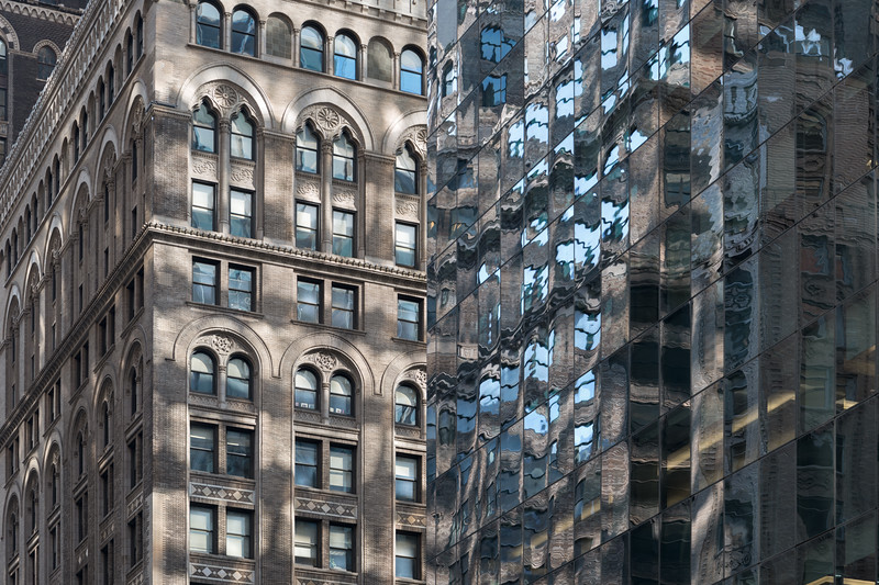 Reflections on Madison Ave. - New York, NY, USA - August 18, 2015