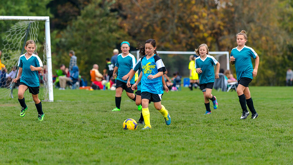10-17-2015 Lightning Bolts versus Turquoise Tigers