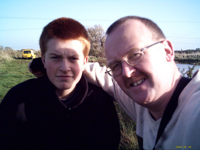 Son John  & Dad 2008