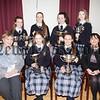 Bank of Ireland Sports winners with Ms Geraldine Pettigrew (Former Principal) and Mrs Fiona McAlinden Principal. R1648011
