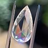 3.33ct Pear Shaped Rose Cut Diamond 12