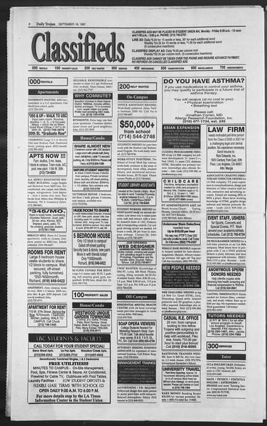 Daily Trojan, Vol. 132, No. 16, September 19, 1997