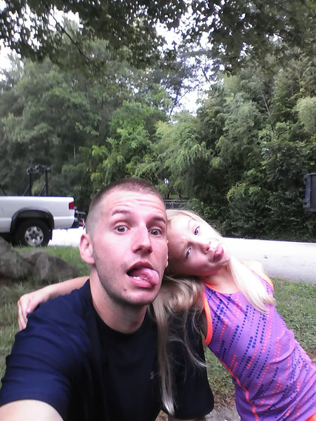 My daughter and I after running the swamp rabbit trail