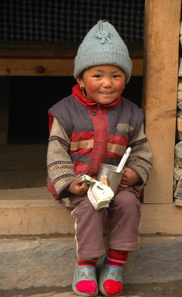 Young Nepali Girl - Annapurna Circuit, Nepal