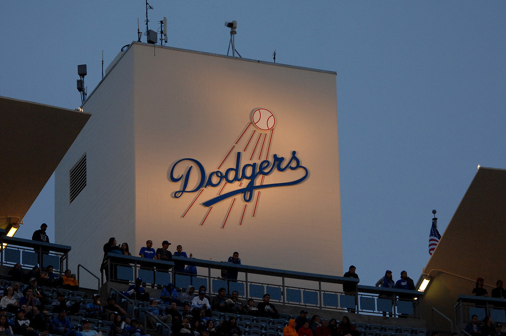 . Dodger stadium twilight at the Freeway Series, Friday, March 29, 2013. (Michael Owen Baker/Staff Photographer)