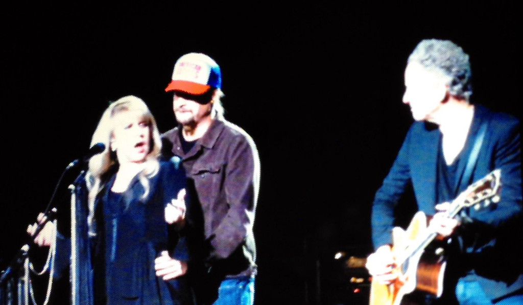 . Kid Rock surprises Stevie Nicks on stage at The Palace of Auburn Hills on Wednesday, Oct. 22, 2014. Photo by Paul Barker