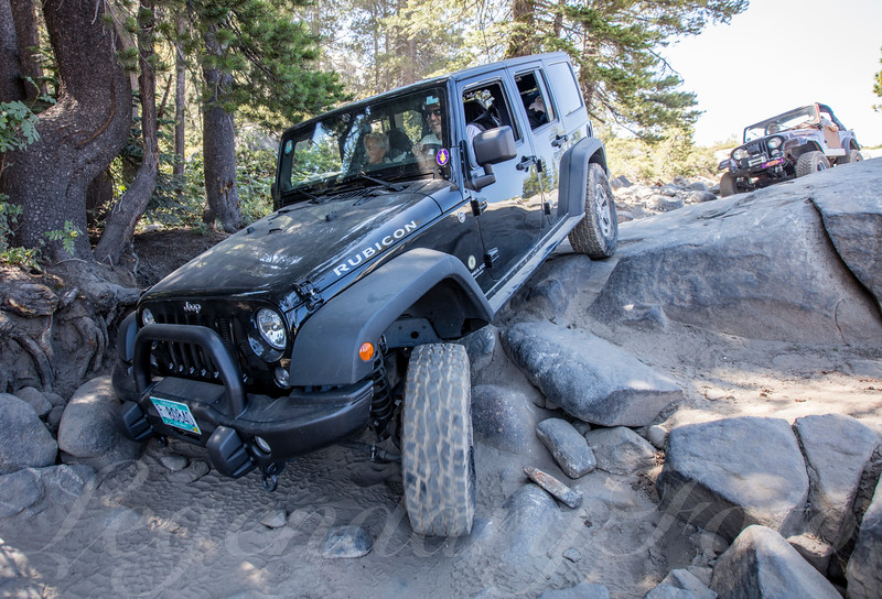 Jeeps on the Rubicon Trail