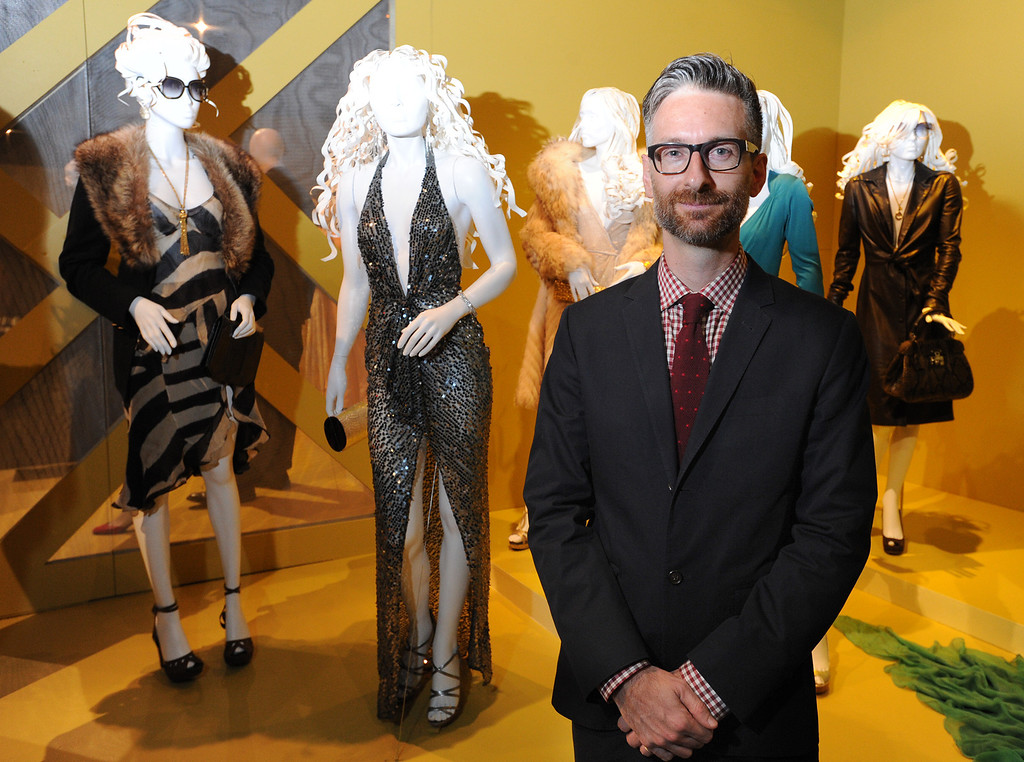 . American Hustle costume designer Michael Wilkinson. FIDM/Fashion Institute of Design & Merchandising is hosting the Art of Motion Picture Costume Design, which features 100 costumes from over 20 selected films, including Oscar nominated designs. Los Angeles, CA. February 09, 2014 (Photo by John McCoy / Los Angeles Daily News)