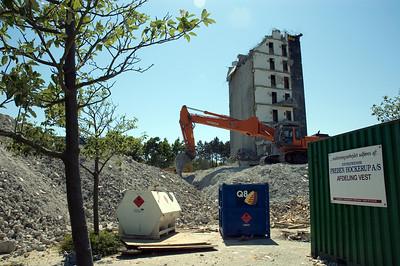 """Demolition of """"Kridthuset"""""""