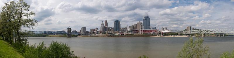 Cincinnati Skyline - late spring evening